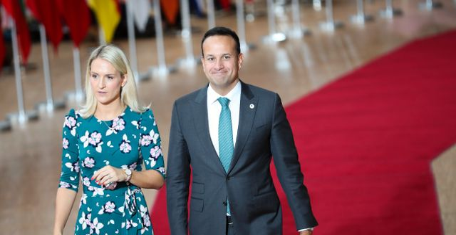 Leo Varadkar anländer till ett EU-toppmöte i oktober. Francisco Seco / TT NYHETSBYRÅN