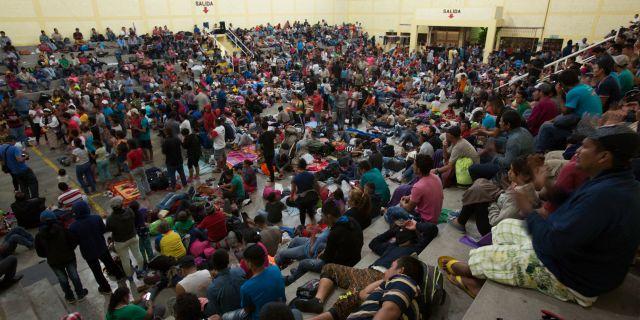 Flyktingläger i Guatemala. Moises Castillo / TT NYHETSBYRÅN/ NTB Scanpix