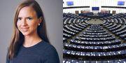 Sara Skyttedal är förstanamn på Kristdemokraternas kandidatlista till EU-parlamentet.  Foto: Montage, Kristdemokraterna/TT
