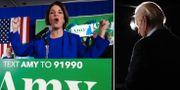 Amy Klobuchar och Joe Biden. TT