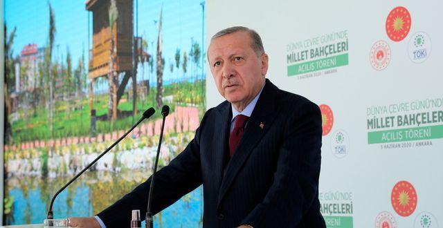 Turkiets president Recep Tayyip Erdogan.  TT NYHETSBYRÅN