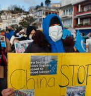 Demonstration till stöd för uigurerna. Mehmet Guzel / TT NYHETSBYRÅN