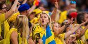 Fans under damernas fotbolls-VM i sommar. SIMON HASTEGÅRD / BILDBYRÅN