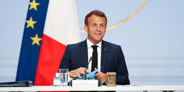 Emmanuel Macron. Yoan Valat / TT NYHETSBYRÅN