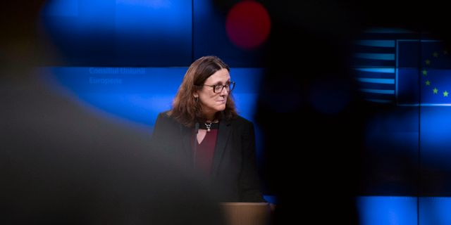 Cecilia Malmström. Virginia Mayo / TT NYHETSBYRÅN
