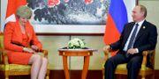 Theresa May och Vladimir Putin träffas i september 2016. Alexei Druzhinin / TT NYHETSBYRÅN/ NTB Scanpix