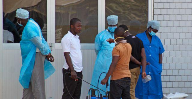 Sjukhus för ebolapatienter, arkivbild. Youssouf Bah / TT NYHETSBYRÅN