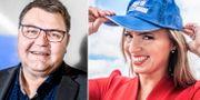 SD-kandidaten i EU-parlamentsvalet Peter Lundgren och KD-kandidaten Sara Skyttedal. TT