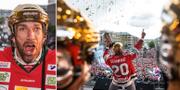 Joel Lundqvist firar guldet i Göteborg. Bildbyrån