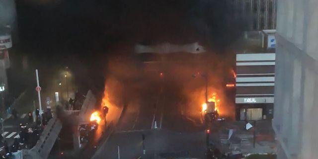 Branden nära Gare du Lyon. JULIEN CLAUS / TT NYHETSBYRÅN