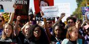 Demonstranter i Washington DC. KEVIN LAMARQUE / TT NYHETSBYRÅN