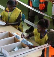 Bild från folkomröstningen. BRC/JEREMY MILLER / TT NYHETSBYRÅN