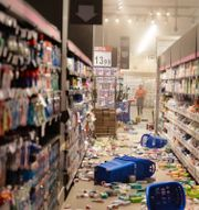 Vandalisering av matbutiken. TT