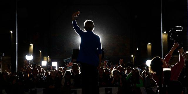 Elizabeth Warren den 3 mars. Patrick Semansky / TT NYHETSBYRÅN