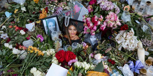 Minnesplats för mördade Karolin Hakim.  Johan Nilsson/TT / TT NYHETSBYRÅN