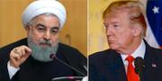 Hassan Rouhani och Donald Trump. TT