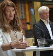 Arkivbild: LO:s nyvalda ordförande Susanna Gideonsson och omvalde avtalssekreteraren Torbjörn Johansson.  Anders Wiklund/TT / TT NYHETSBYRÅN