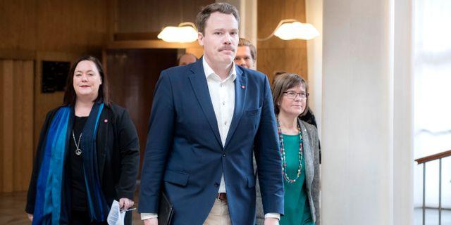 Stina Svensson (Fi), Daniel Bernmar (v), Karin Pleijel (Mp)  Thomas Johansson/TT / TT NYHETSBYRÅN