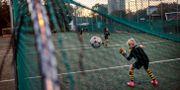 Spelare i AIK:s ungdomssektion under en träning den 19 oktober 2017 i Stockholm SIMON HASTEGÅRD / BILDBYRÅN
