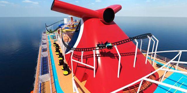"""""""Bolt Ultimate Sea Coaster"""" ska locka fartglada barn och vuxna. Carnival Cruise Line"""