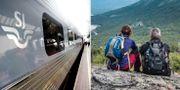 SJ-tåg/Turister vid Lapporten. Illustrationsbilder. TT
