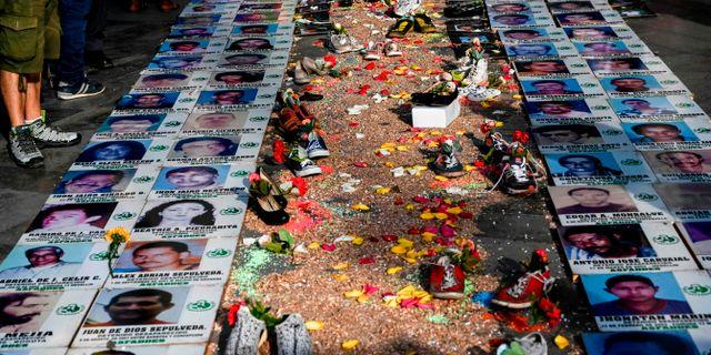 Bilder på människor som försvunnit. JOAQUIN SARMIENTO / AFP