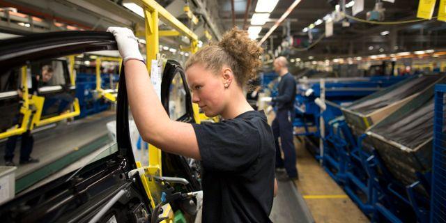 Arkivbild: Anställd på Volvo Cars fabrik i Torslanda. Björn Larsson Rosvall / TT / TT NYHETSBYRÅN
