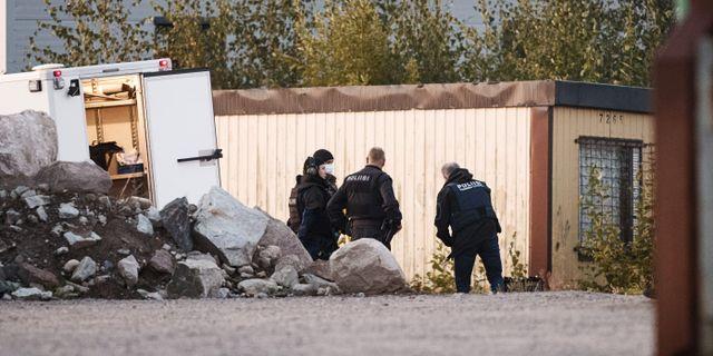 Bild från Borgå på söndagsmorgonen. LEHTIKUVA / TT NYHETSBYRÅN