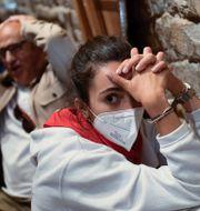 Spanjorer på en bar i Pamplona.  Alvaro Barrientos / TT NYHETSBYRÅN