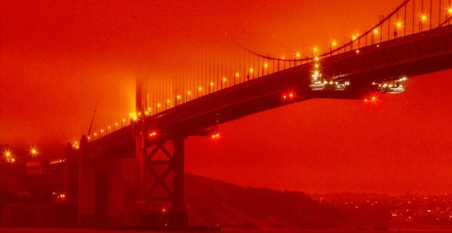 Golden Gate-bron i San Francisco. Frederic Larson / TT NYHETSBYRÅN