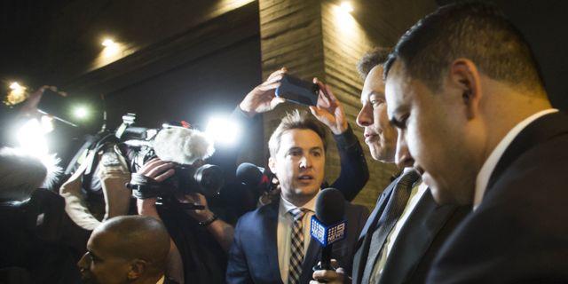 Elon Musk inför rättegången. Apu Gomes / GETTY IMAGES NORTH AMERICA