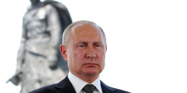 Vladimir Putin i ett tal till nationen på tisdagen. Mikhail Klimentyev / TT NYHETSBYRÅN