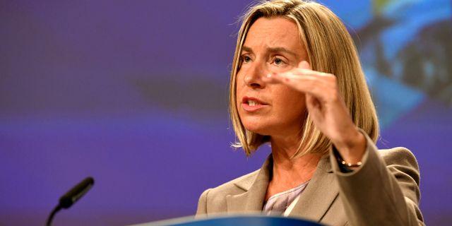 Federica Mogherini. PIROSCHKA VAN DE WOUW / TT NYHETSBYRÅN