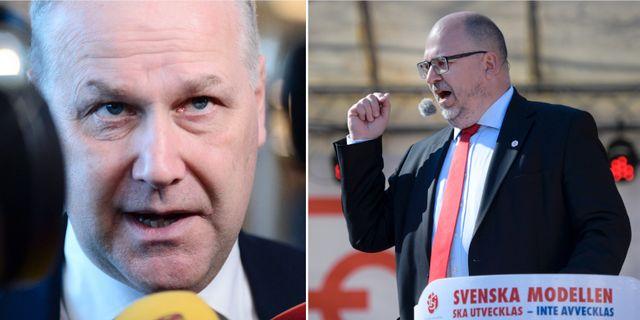 Sjöstedt/LO:s Karl-Petter Thorwaldsson.  TT