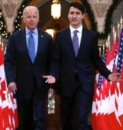 Biden och Trudeau, 2016/Demonstrationer till förmån för bygget av Keystone XL, 2011. TT