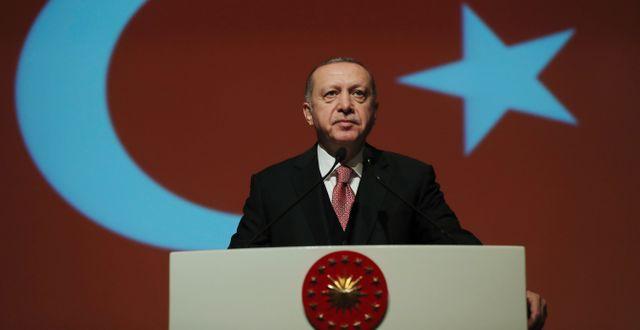 Turkiets ledare Recep Tayyip Erdogan. Arkivbild. TT NYHETSBYRÅN/ NTB Scanpix