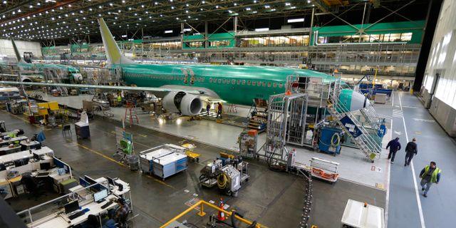 Flygplanstillverkaren Boeing fick inte en enda beställning i januari. Ted S. Warren / TT NYHETSBYRÅN
