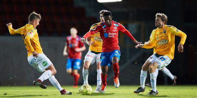 Falkenberg i match mot Helsingborg. Arkivbild. Andreas Hillergren/TT / TT NYHETSBYRÅN