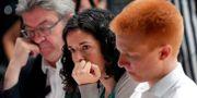 Manon Aubry, 29 är en av de yngsta ledamöterna i EU-parlamentet. GEOFFROY VAN DER HASSELT / AFP