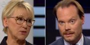 Margot Wallström (S) och Martin Kinnunen (SD) SVT
