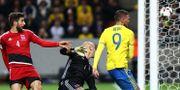 Marcus Berg gör mål mot Luxemburg. PETER HOLGERSSON / BILDBYRÅN