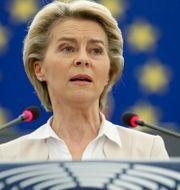 EU-kommissionens ordförande Ursula von der Leyen. Jean-Francois Badias / TT NYHETSBYRÅN