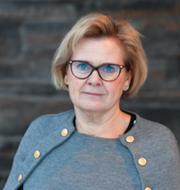 Åklagarmyndighetens skylt och Petra Lundh.  TT