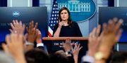 Vita husets presstalesperson Sarah Huckabee Sanders. JOSHUA ROBERTS / TT NYHETSBYRÅN