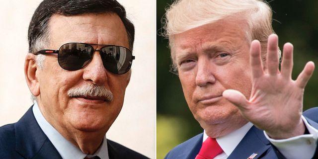 Fayez al-Sarraj/Donald Trump. TT