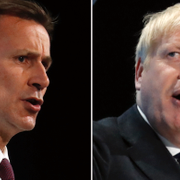 Jeremy Hunt och Boris Johnson. TT