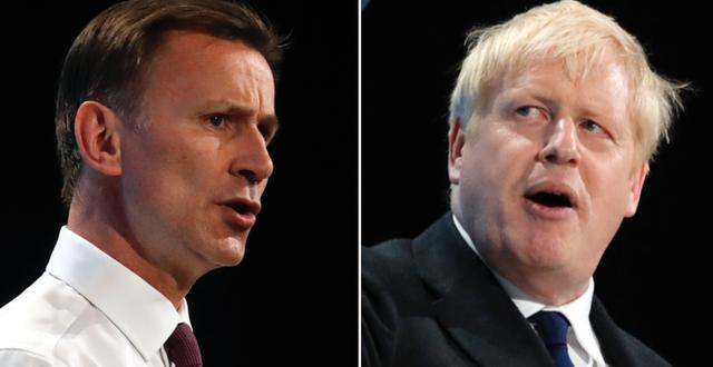 Jeremy Hunt och Boris Johnson. TT