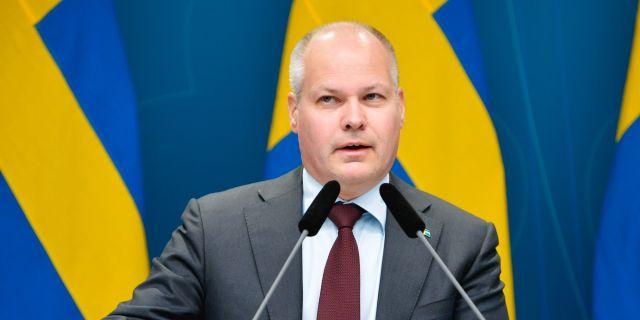 Morgan Johansson (S) vid tidigare pressträff.  Anders Wiklund/TT / TT NYHETSBYRÅN