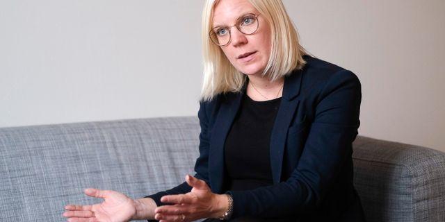 Karin Ernlund (C), nytt arbetsmarknads- och integrationsborgarråd i Stockholms stad.   Foto: Sören Andersson