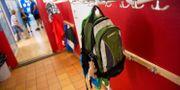 Illustrationsbild. Ryggsäck på en skola.  FREDRIK SANDBERG / TT / TT NYHETSBYRÅN
